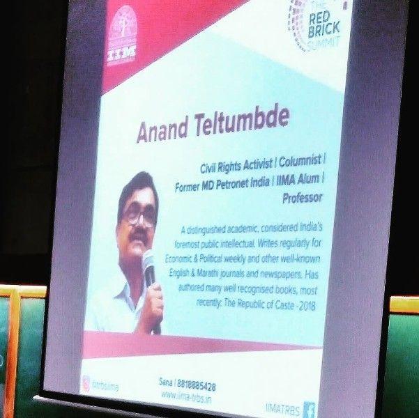 A Description of Anand Teltumbde
