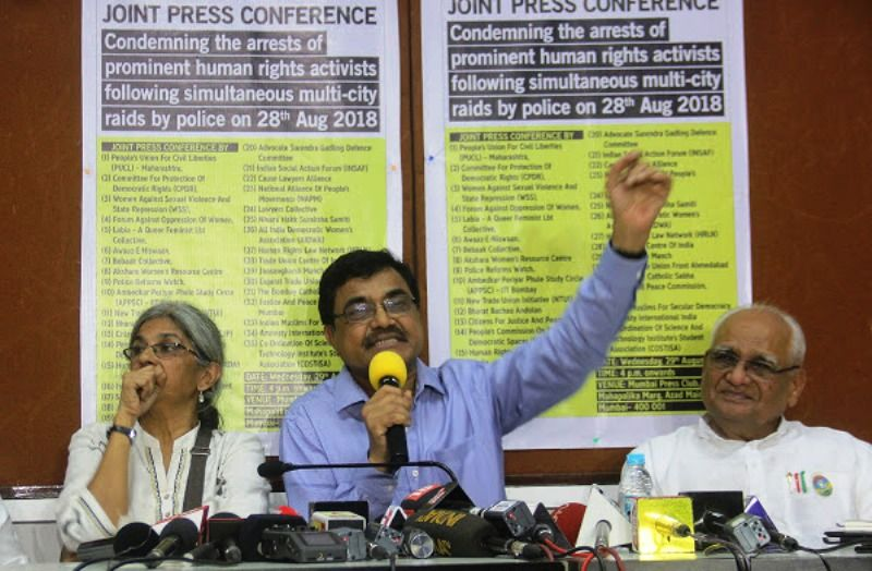 Anand Teltumbde at a Press Conference