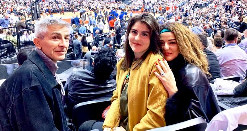 Bianca Andreescu with her father, Nicu Andreescu and her mother, Maria Andreescu