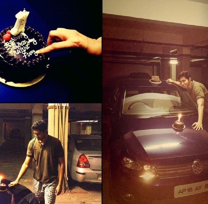Chaitanya Jonnalagedda With His Car
