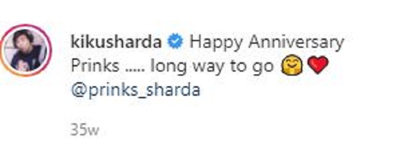 Kiku Sharda's Instagram Post