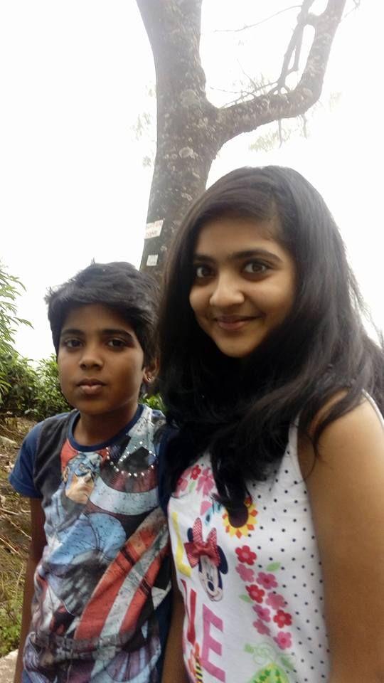 Nandana Varma with her brother