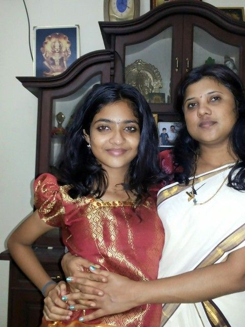 Nandana Varma with her mother