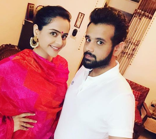 Prachi Tehlan with her brother