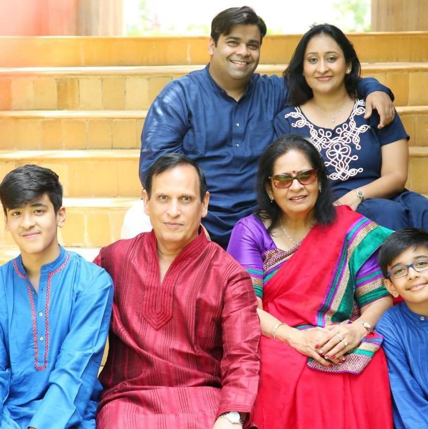 Priyanka Sharda With Her Parents, Husband, and Sons