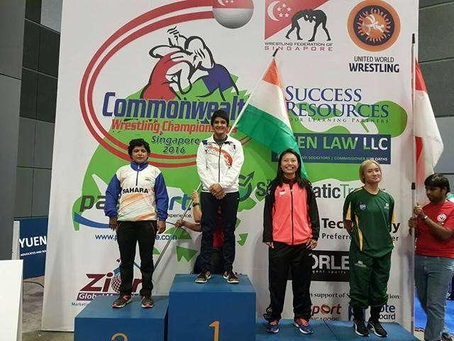Ritu Phogat at the Commonwealth Championship