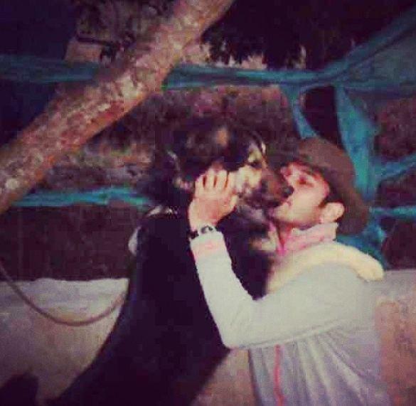 Rohit Saroha with his pet dog