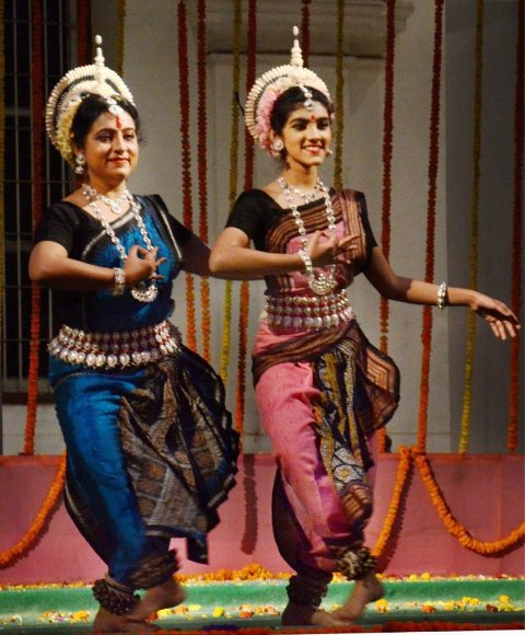 Sana Ganguly performing with her mother