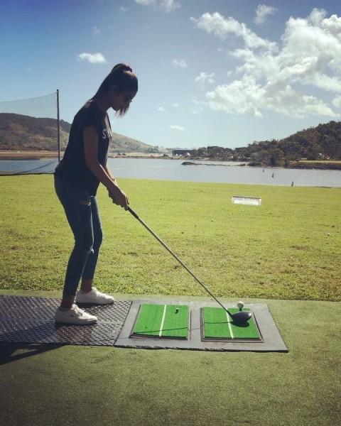 Vini Raman playing Golf