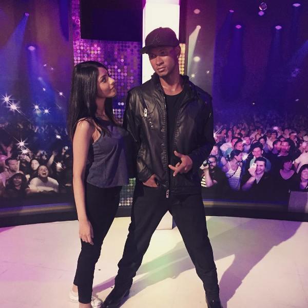 Vini Raman with Usher's statue