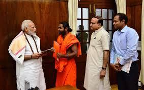 Led Shwaasa Guru Sri Vachananand Swamiji to meet Hon'ble PM — AnanthKumar