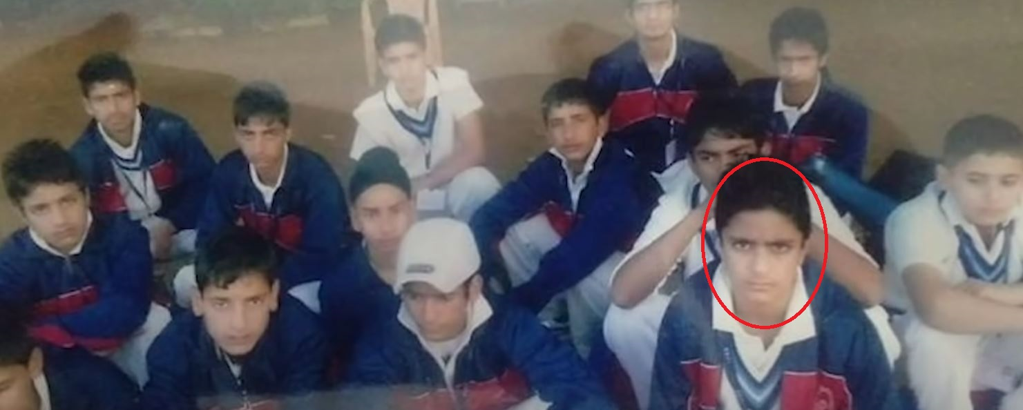 Abdul Samad with his team during his formative years as a child cricketer