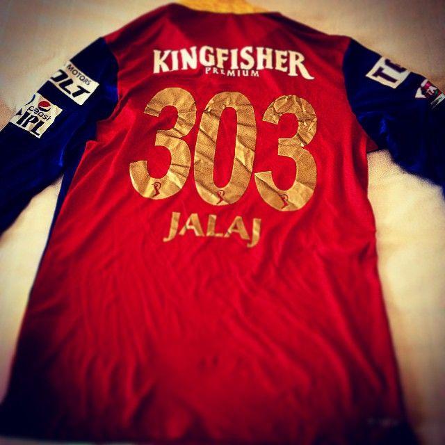 Jalaj Saxena's RCB jersey