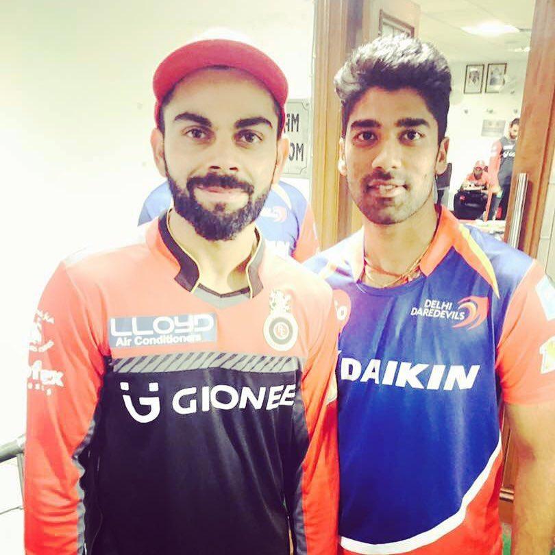 Shashank Singh with Indian skipper Virat Kohli