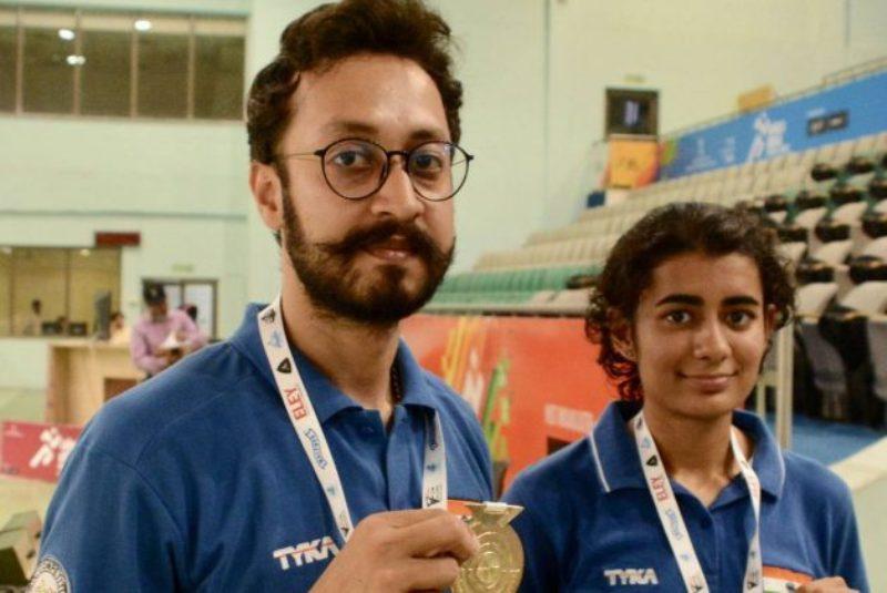 Yashaswini Deswal with her mixed doubles partner Abhishek Verma
