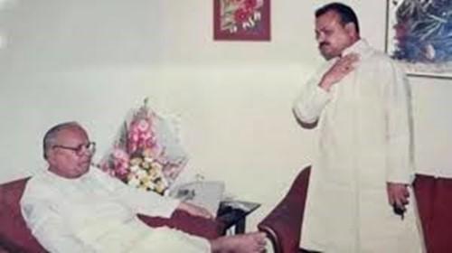 Basavaraj Bommai with his father, S R Bommai