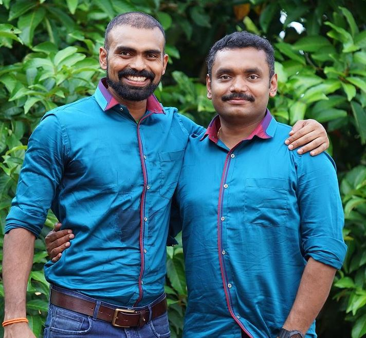 P. R. Sreejesh with his brother