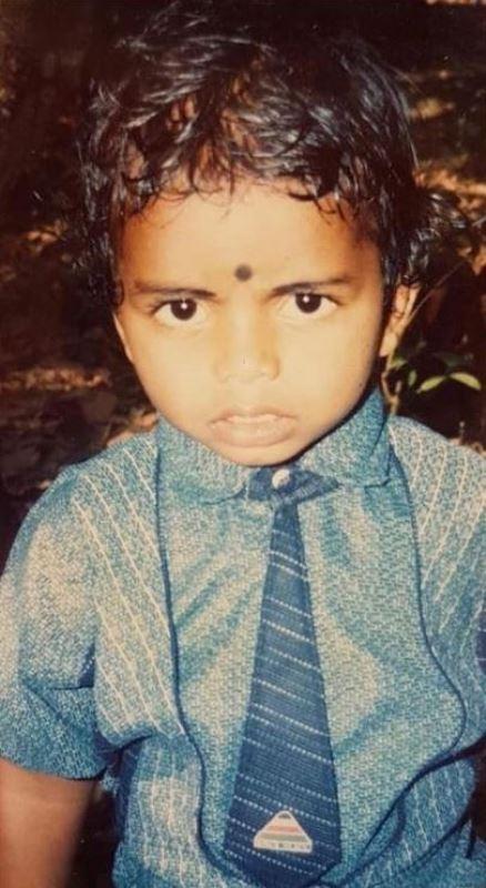 P. R. Sreejesh's childhood picture