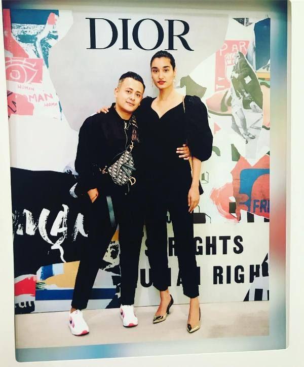 Kanishtha Dhanker with her boyfriend
