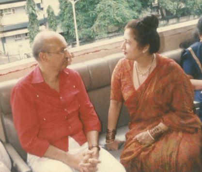 Nanda with Manmohan Desai